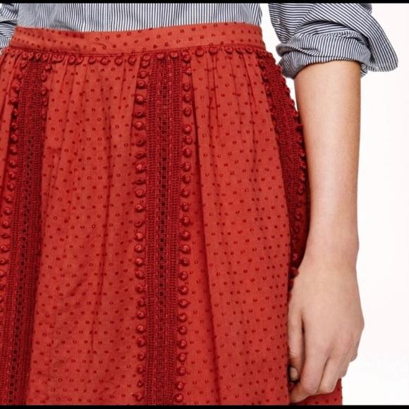 J. Crew Dresses & Skirts - J. Crew sz 6 Swiss Dot Pom Pom skirt NWT perfect